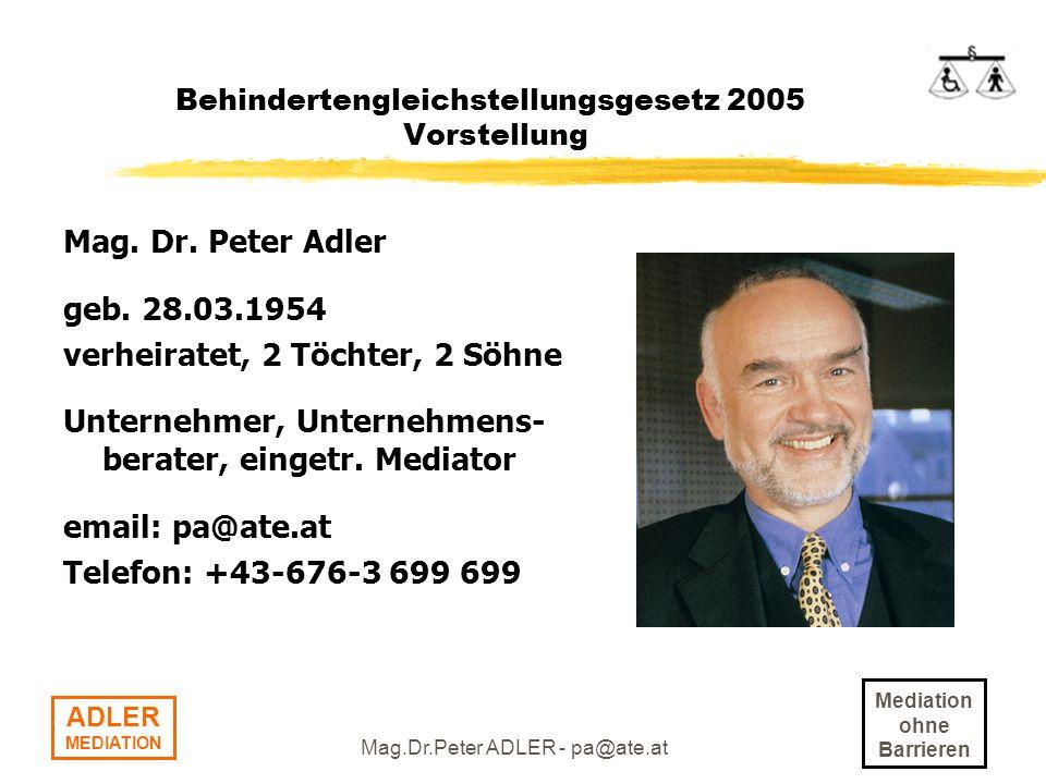 Behindertengleichstellungsgesetz 2005 Vorstellung