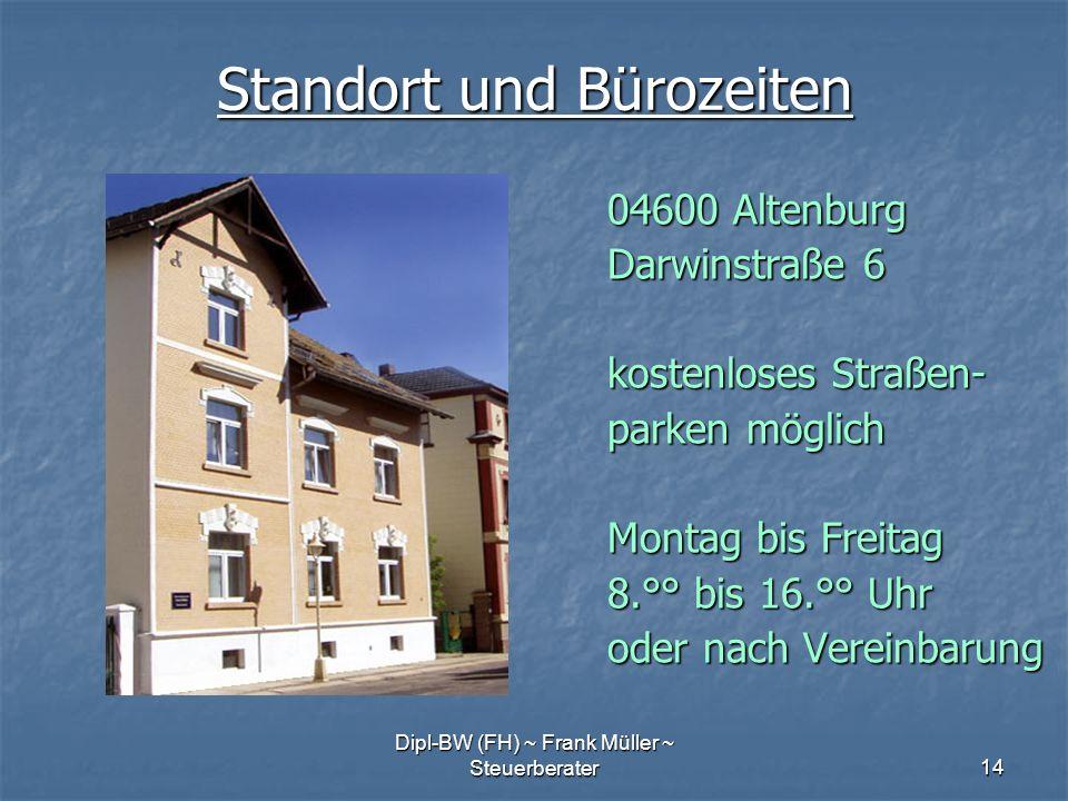 Standort und Bürozeiten