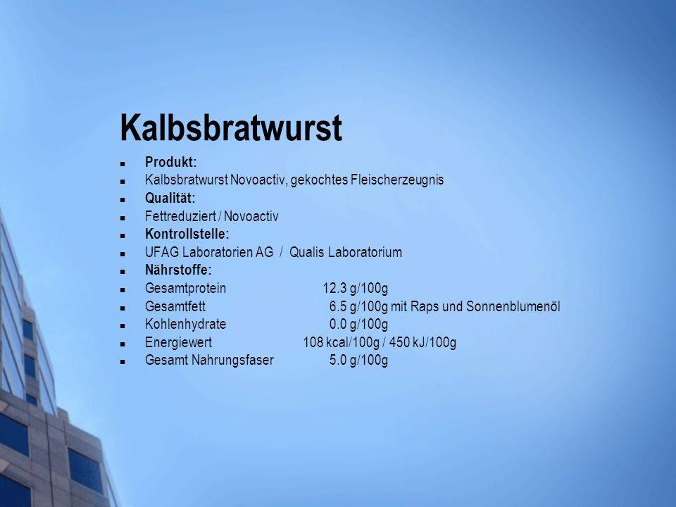 Kalbsbratwurst Produkt: