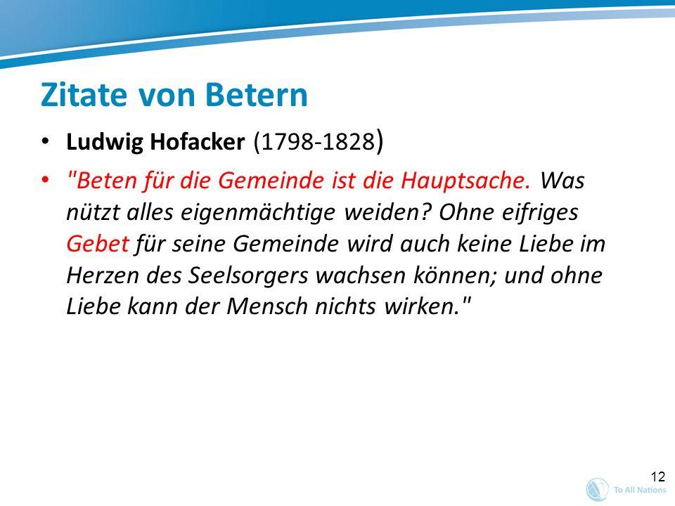 Zitate von Betern Ludwig Hofacker (1798-1828)