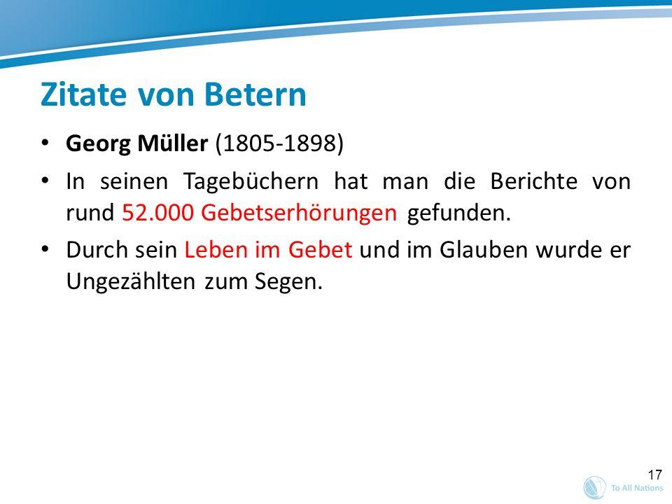 Zitate von Betern Georg Müller (1805-1898)