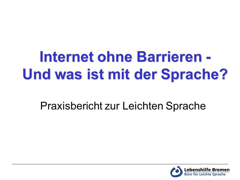 Internet ohne Barrieren - Und was ist mit der Sprache