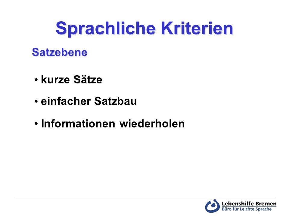 Sprachliche Kriterien