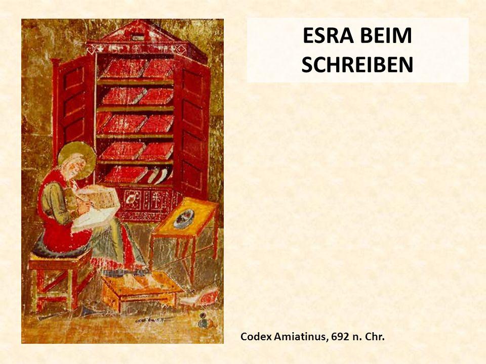 ESRA BEIM SCHREIBEN Codex Amiatinus, 692 n. Chr.