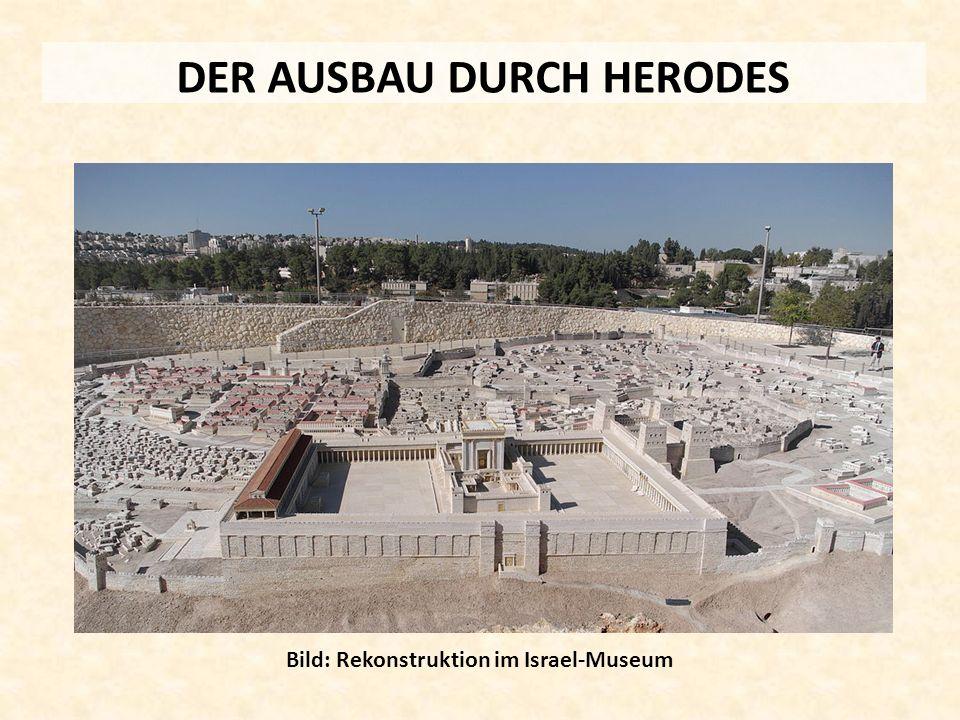 DER AUSBAU DURCH HERODES Bild: Rekonstruktion im Israel-Museum
