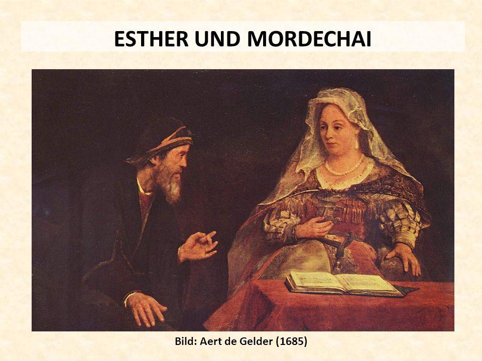 ESTHER UND MORDECHAI Bild: Aert de Gelder (1685)