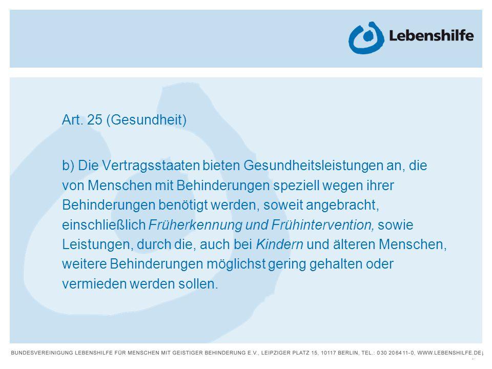 Art. 25 (Gesundheit)