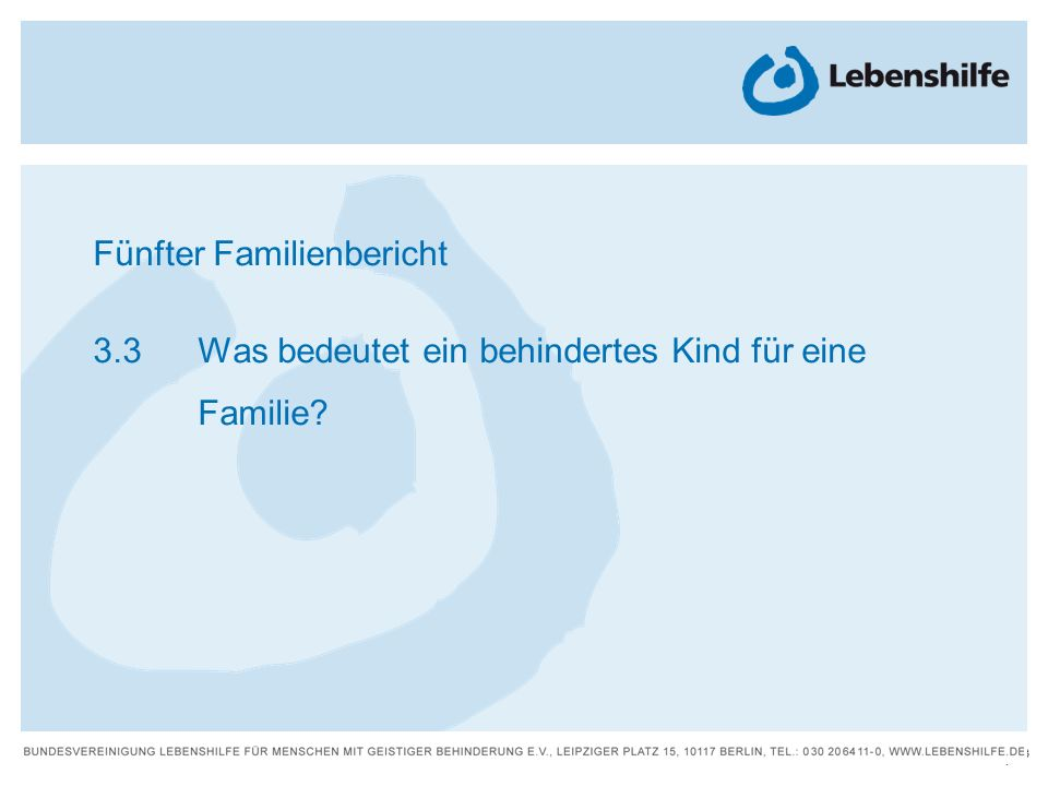 Fünfter Familienbericht