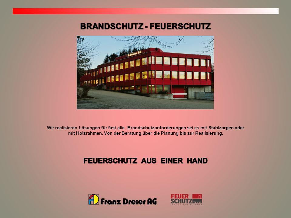 BRANDSCHUTZ - FEUERSCHUTZ FEUERSCHUTZ AUS EINER HAND