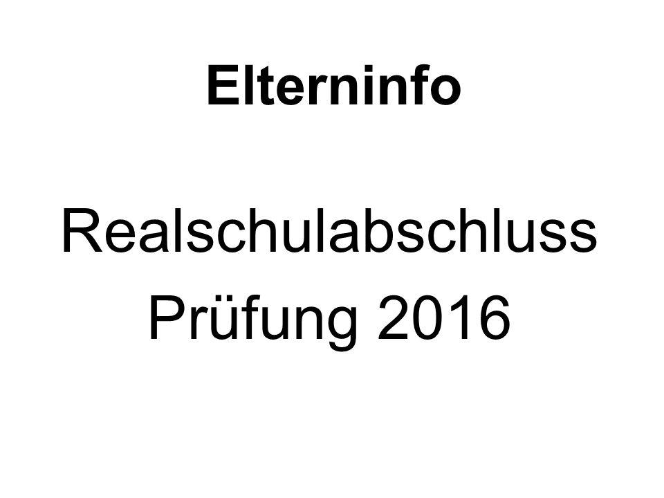 Realschulabschluss Prüfung 2016