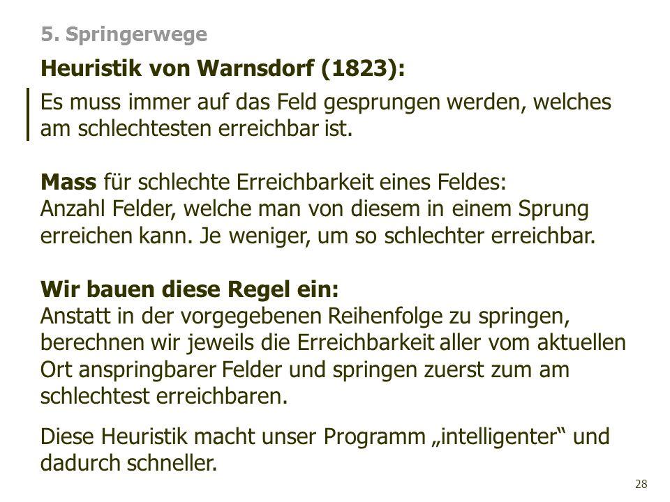 Heuristik von Warnsdorf (1823):