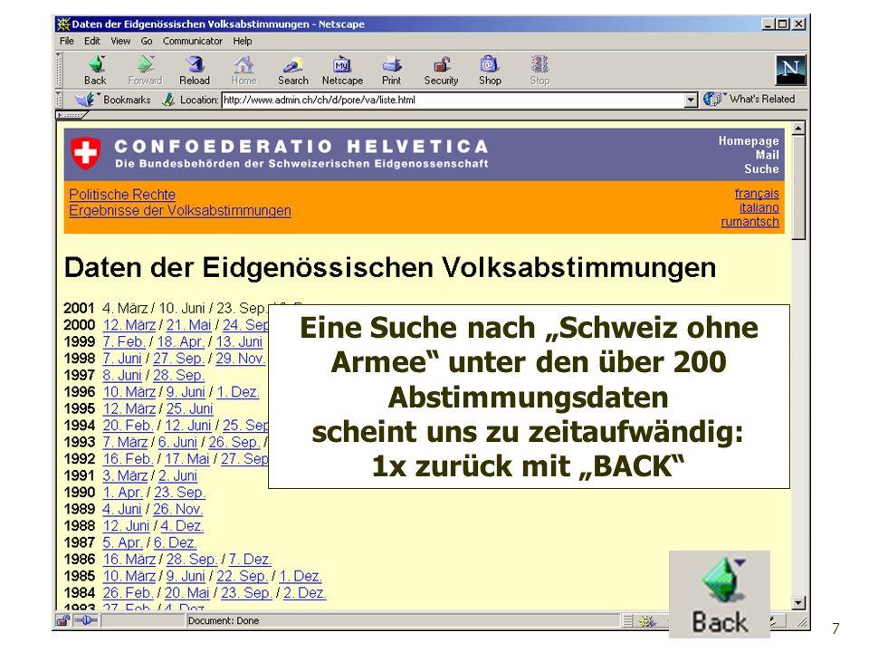 """Eine Suche nach """"Schweiz ohne Armee unter den über 200"""