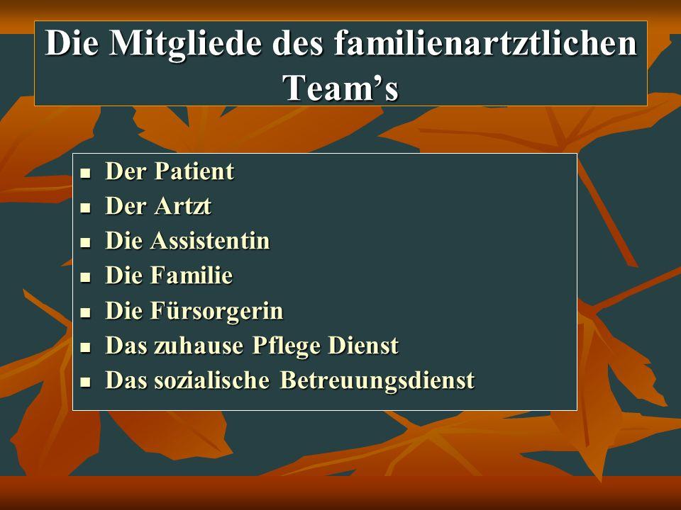 Die Mitgliede des familienartztlichen Team's