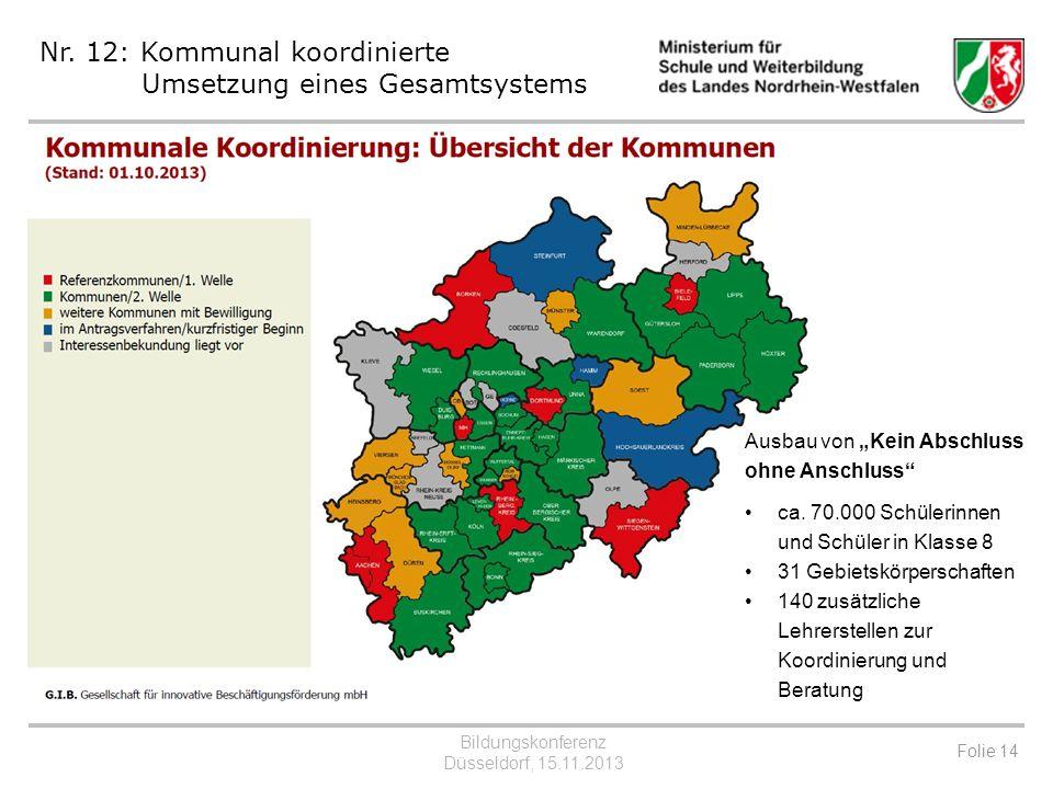 Nr. 12: Kommunal koordinierte Umsetzung eines Gesamtsystems