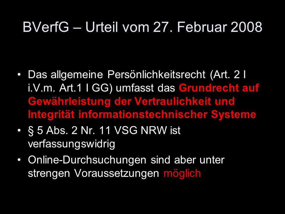 BVerfG – Urteil vom 27. Februar 2008