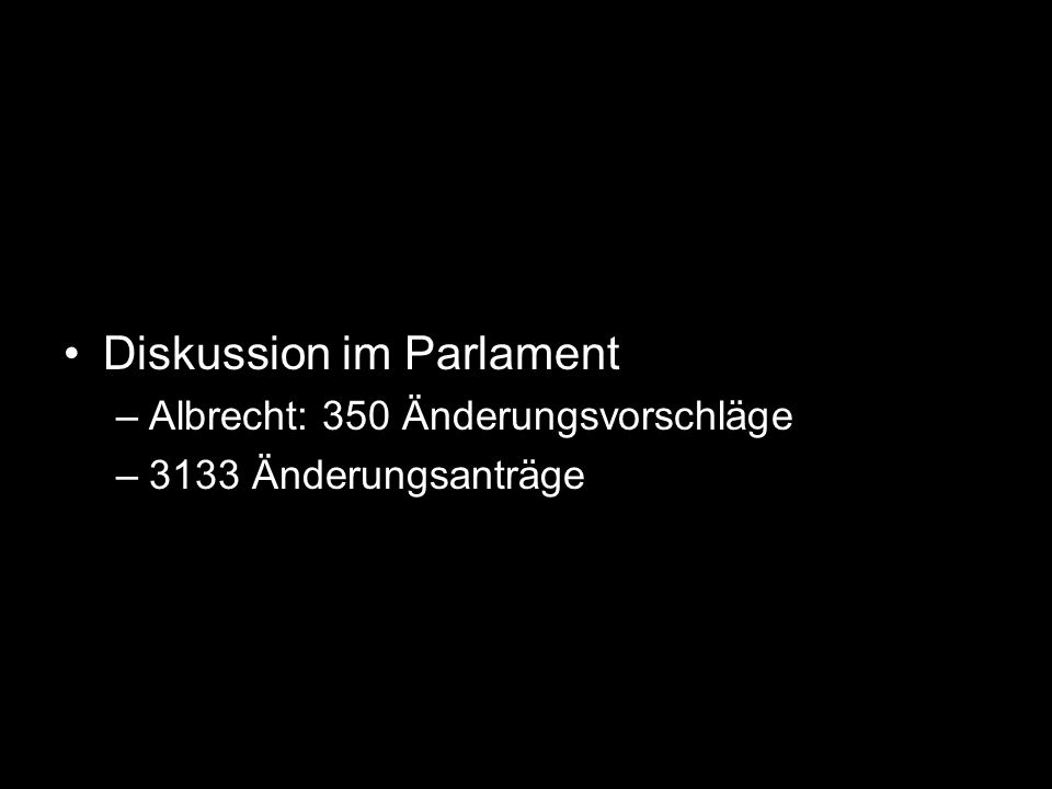 Diskussion im Parlament