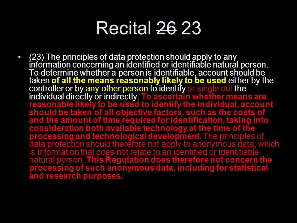 Recital 26 23