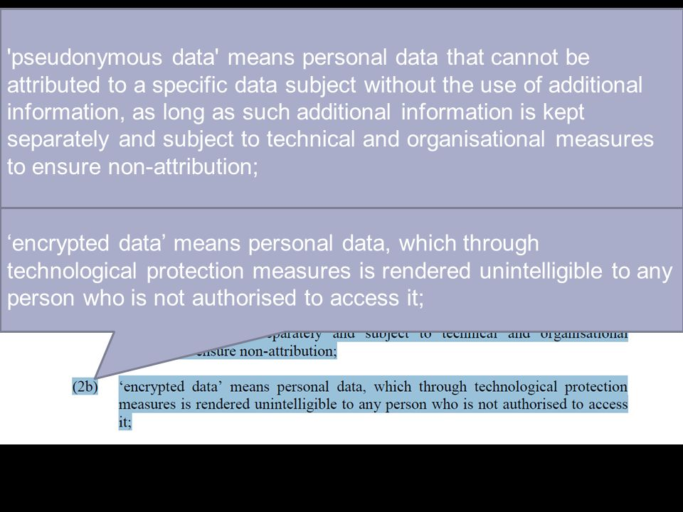 pseudonymous data means personal data that cannot be attributed to a specific data subject without the use of additional information, as long as such additional information is kept separately and subject to technical and organisational measures to ensure non-attribution;