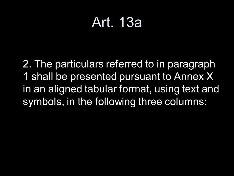 Art. 13a