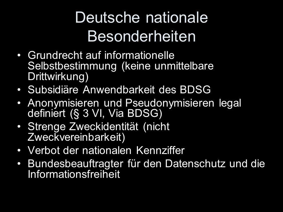 Deutsche nationale Besonderheiten