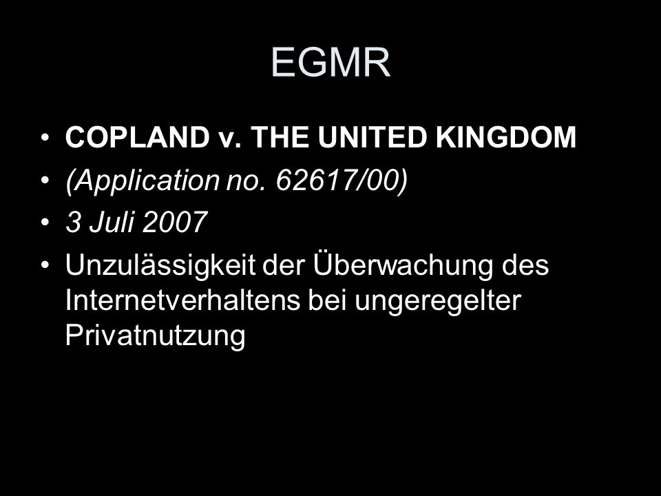 EGMR COPLAND v. THE UNITED KINGDOM (Application no. 62617/00)
