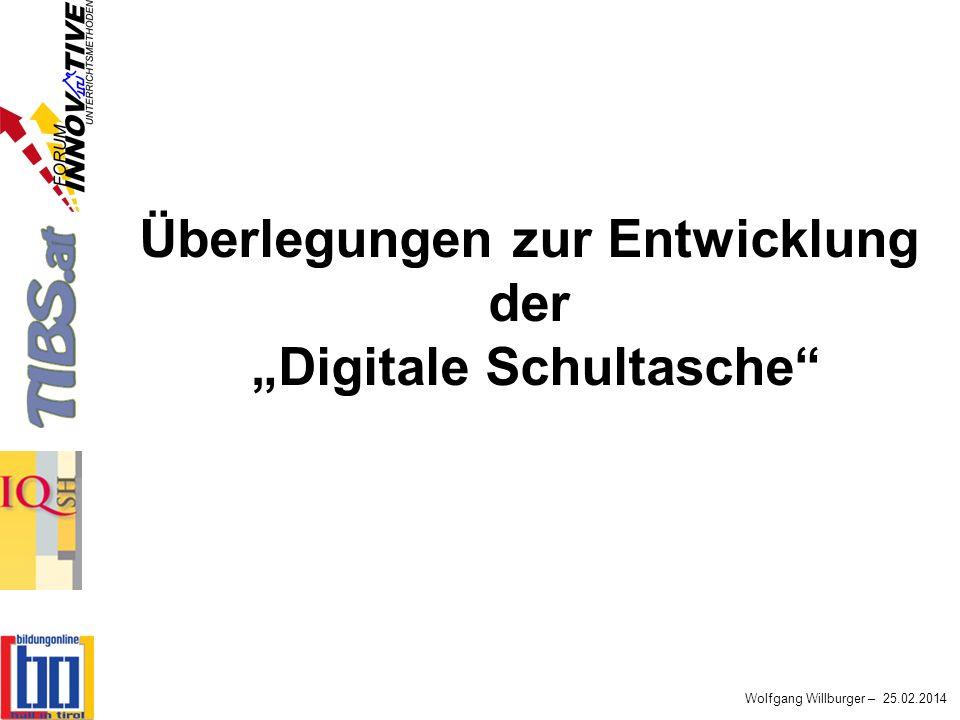 """Überlegungen zur Entwicklung der """"Digitale Schultasche"""
