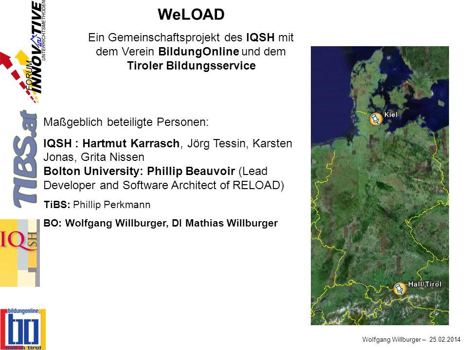 WeLOAD Ein Gemeinschaftsprojekt des IQSH mit dem Verein BildungOnline und dem Tiroler Bildungsservice.