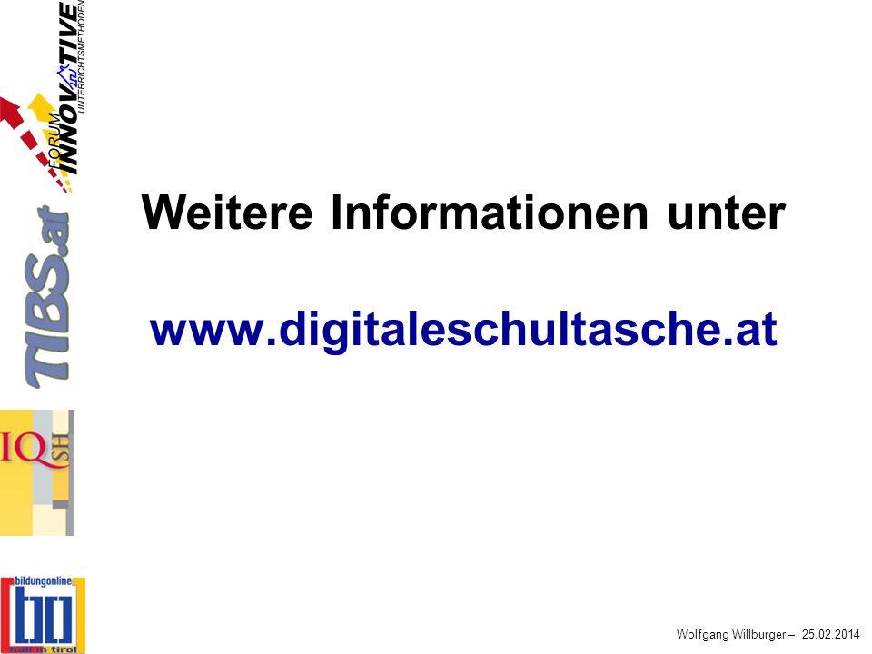 Weitere Informationen unter www.digitaleschultasche.at