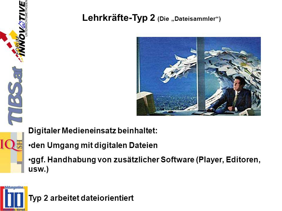 """Lehrkräfte-Typ 2 (Die """"Dateisammler )"""