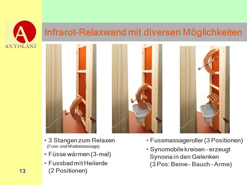 Infrarot-Relaxwand mit diversen Möglichkeiten