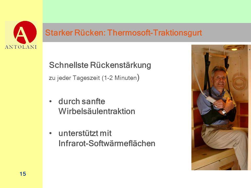 Starker Rücken: Thermosoft-Traktionsgurt