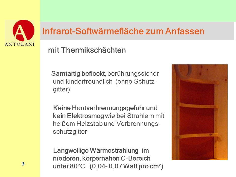 Infrarot-Softwärmefläche zum Anfassen