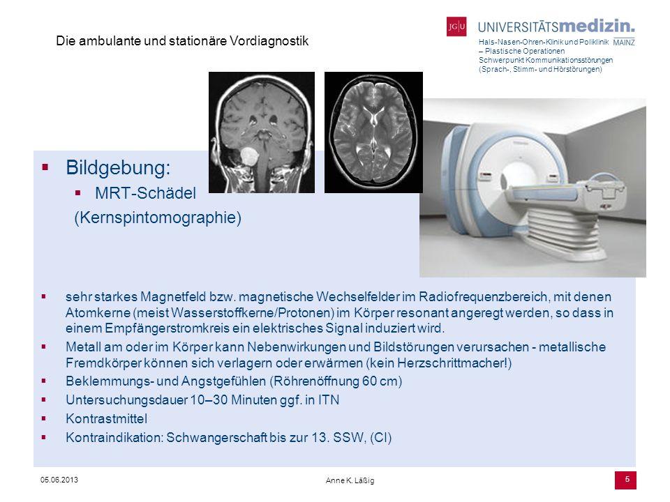 Bildgebung: MRT-Schädel (Kernspintomographie)