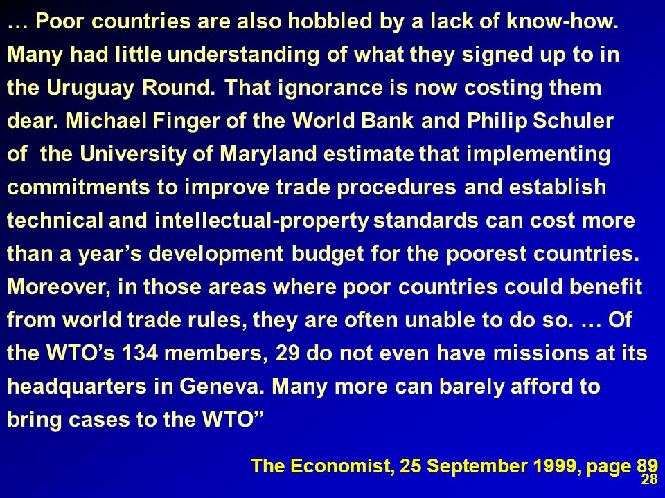 … Poor countries are also hobbled by a lack of know-how