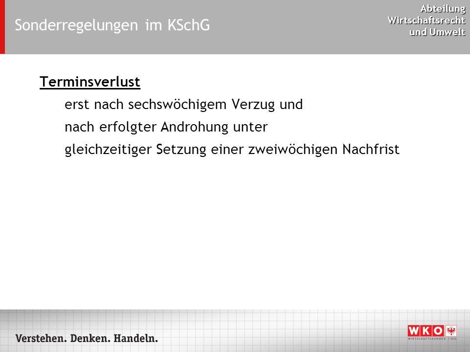 Sonderregelungen im KSchG
