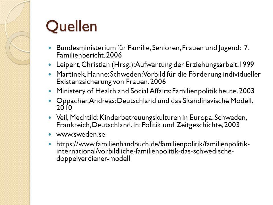 Quellen Bundesministerium für Familie, Senioren, Frauen und Jugend: 7. Familienbericht. 2006.