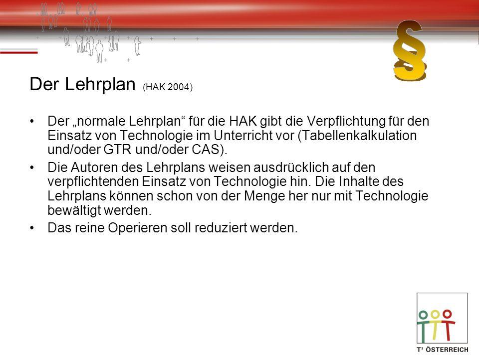 § Der Lehrplan (HAK 2004)