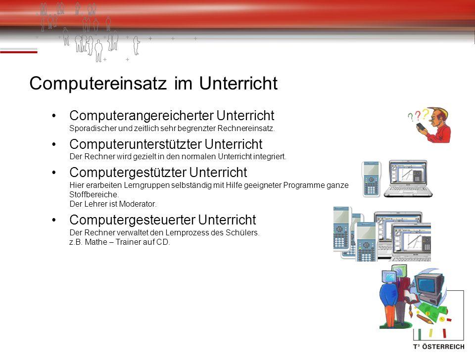 Computereinsatz im Unterricht