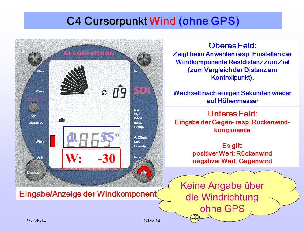 C4 Cursorpunkt Wind (ohne GPS)