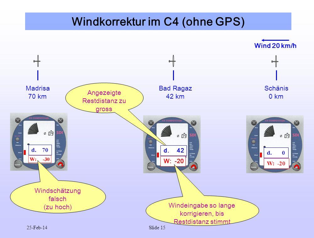 Windkorrektur im C4 (ohne GPS)