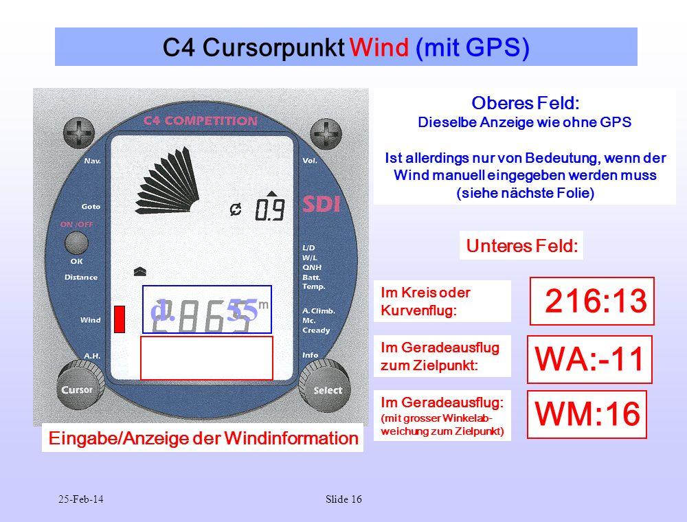 C4 Cursorpunkt Wind (mit GPS)