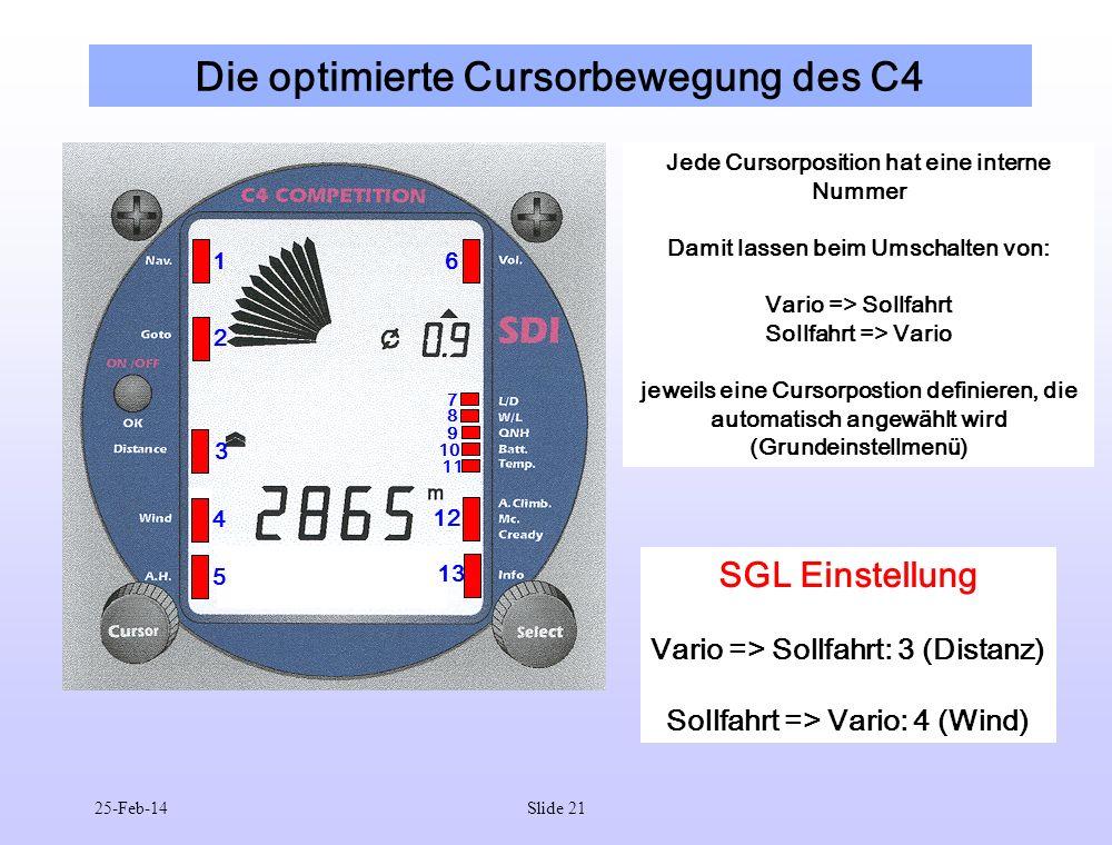 Die optimierte Cursorbewegung des C4
