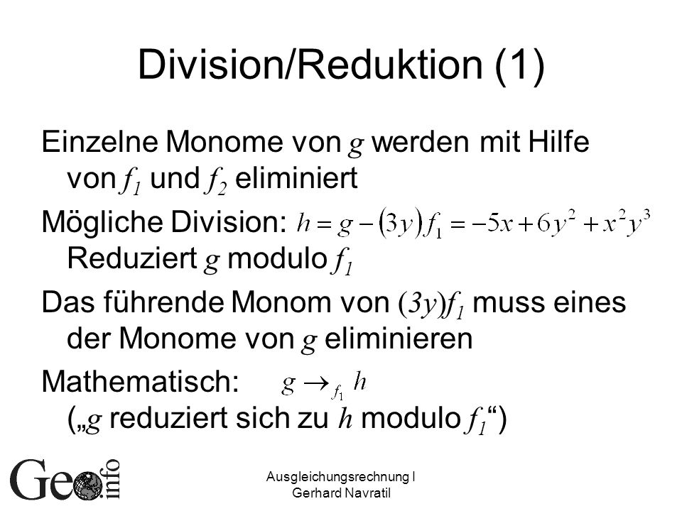 Division/Reduktion (1)