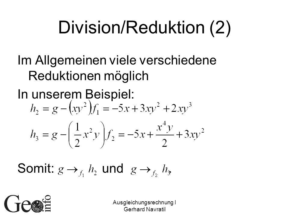 Division/Reduktion (2)
