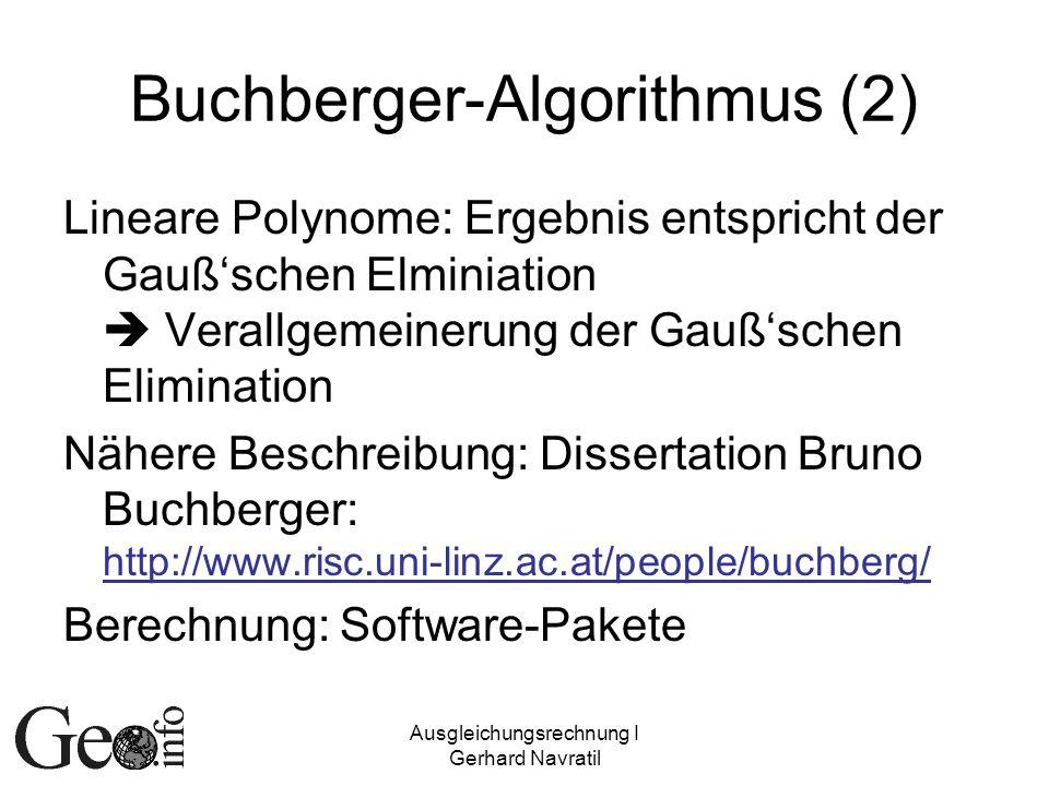 Buchberger-Algorithmus (2)