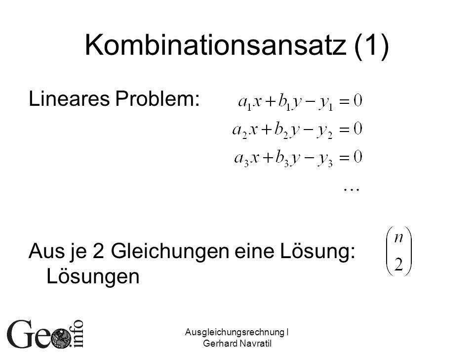 Kombinationsansatz (1)