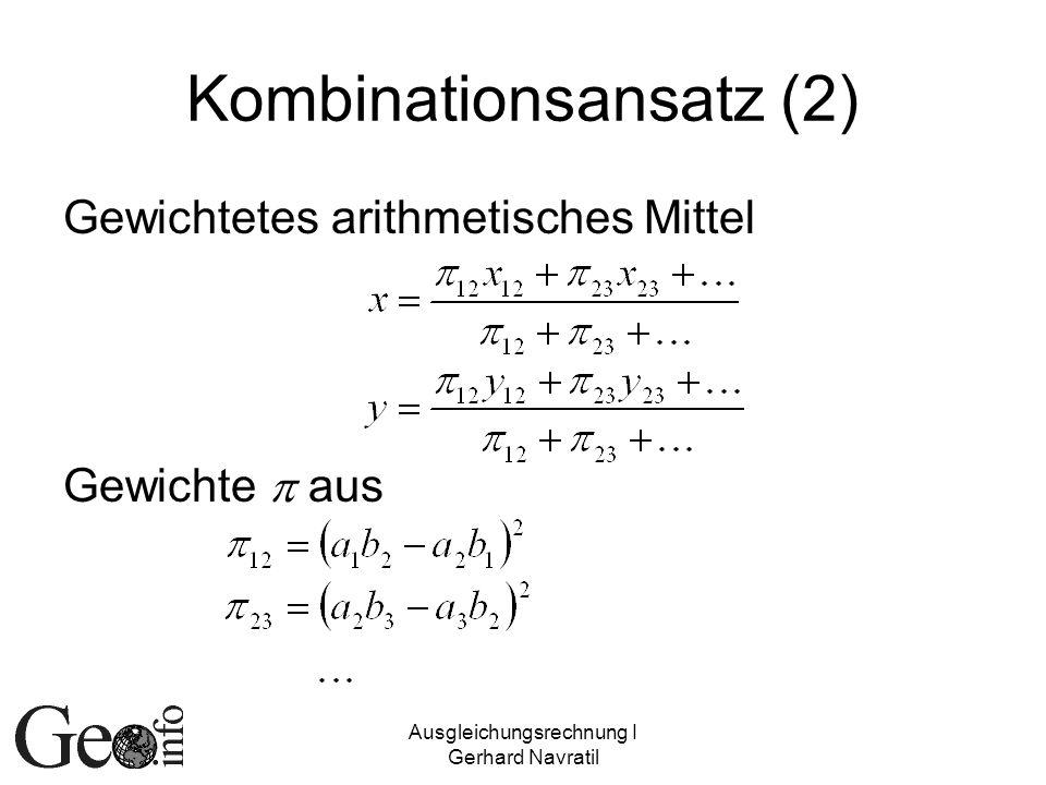 Kombinationsansatz (2)