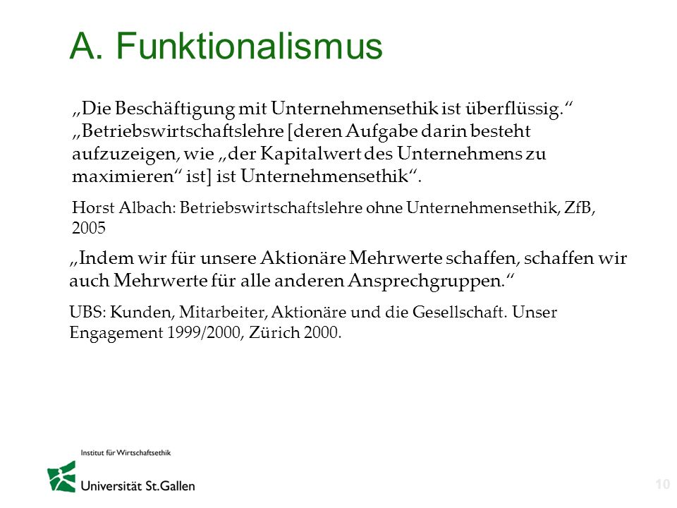 A. Funktionalismus