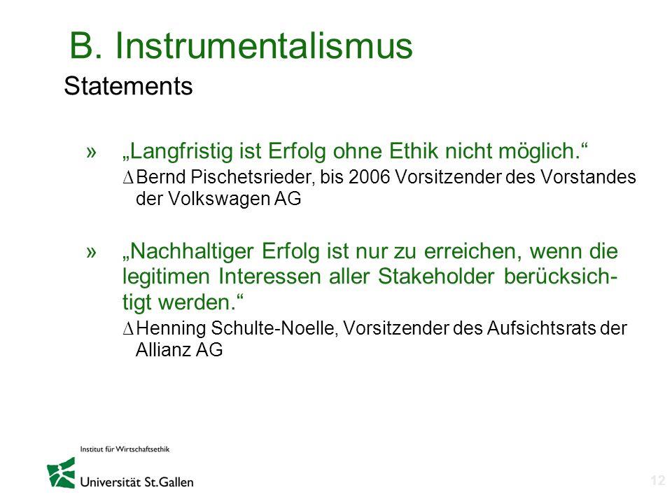 B. Instrumentalismus Statements