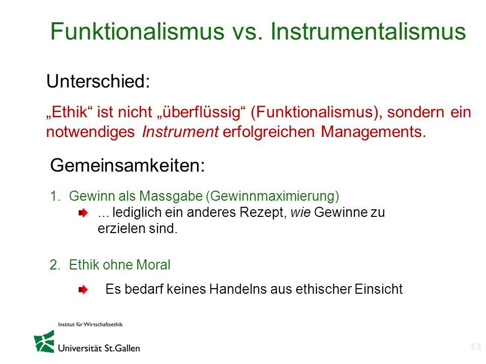 Funktionalismus vs. Instrumentalismus